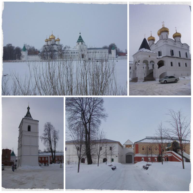 Ипатьевский монастырь - колыбель династии Романовых, зимой