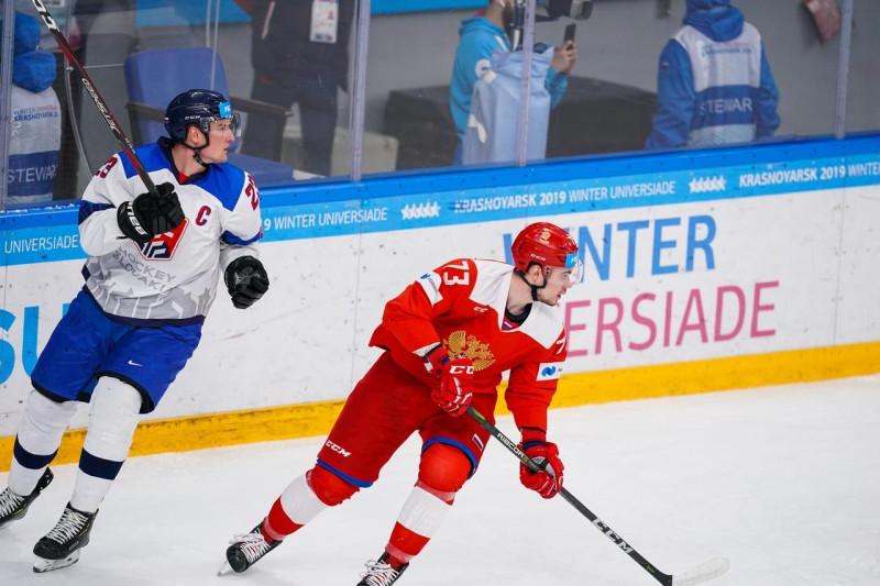 Сборная Словакии оказала ожесточённое сопротивление сборной России в финале Универсиады