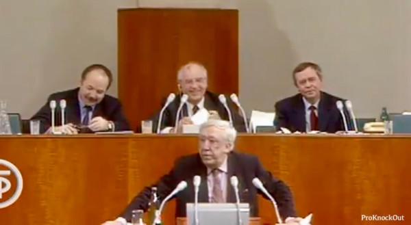 Историческая запись выступления Юрия Никулина на встрече Президента СССР с деятелями культуры