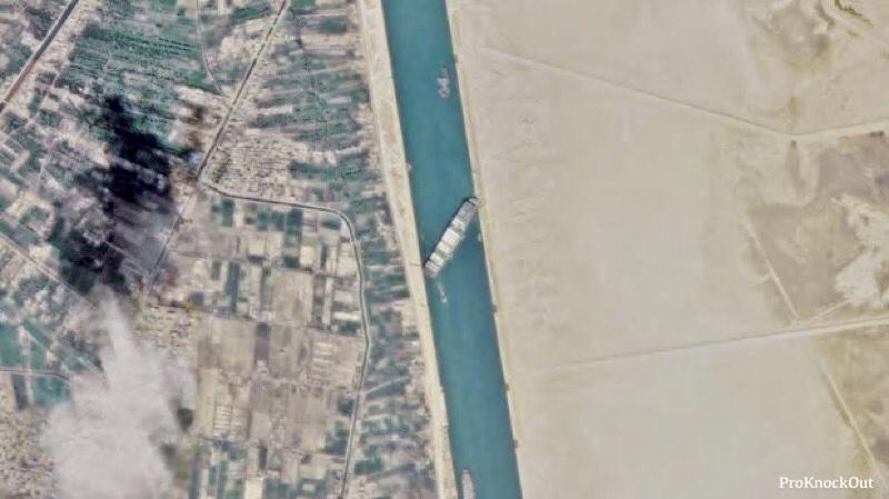 Названа сумма ущерба от блокировки Суэцкого канала