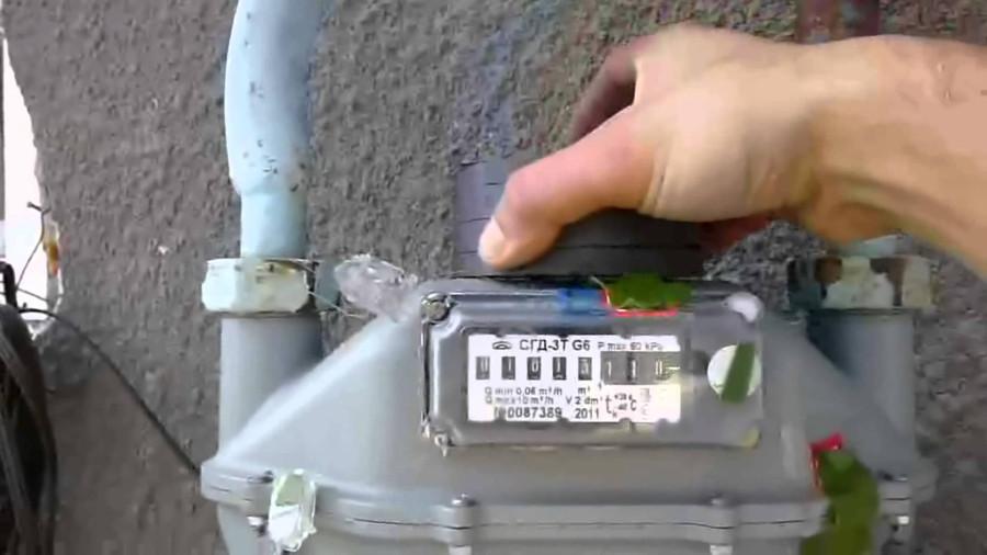 Как остановить счётчик газа без магнита