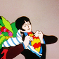 One of my first icons of Paul McCartney as a character from the film Yellow Submarine.