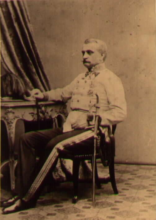 Фельдмаршал-лейтенант Фердинанд барон фон Лангенау (Ferdinand Baron von Langenau) в парадной форме, фото 1860