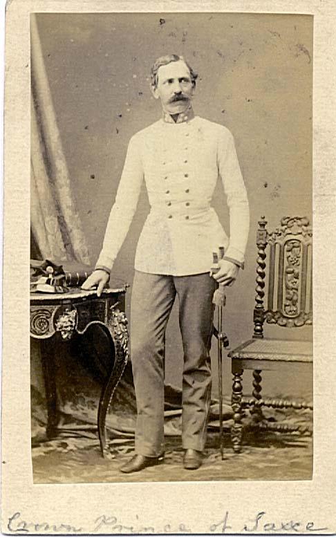 Подполковник Gustav Friedrich Prinz zu Sachsen-Weimar-Eisenach пехотный полк №21. Командовал 2м батальоном при Сольферино, державшим оборону кладбища. Ранен, награжден Орденом Леопольда