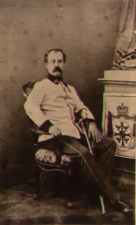 Le Prince Antoine de Gonzaga капитан полка N16. Командовал 2мя ротами прикрытия батареи при Мадженте. Сопровождал батарею во время отступления в Милан после битвы. Участник боя за кладбище при Сольферино. Награжден медалью.