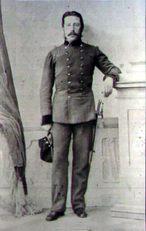 Капитан 13го егерского батальона Антон Майер