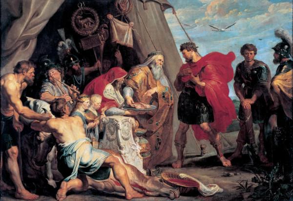 История Деция Муса 2. Гадание Децию Мусу (1617) (294х412) (Вена, Музей Лихтенштейн) (1,27 МБ)