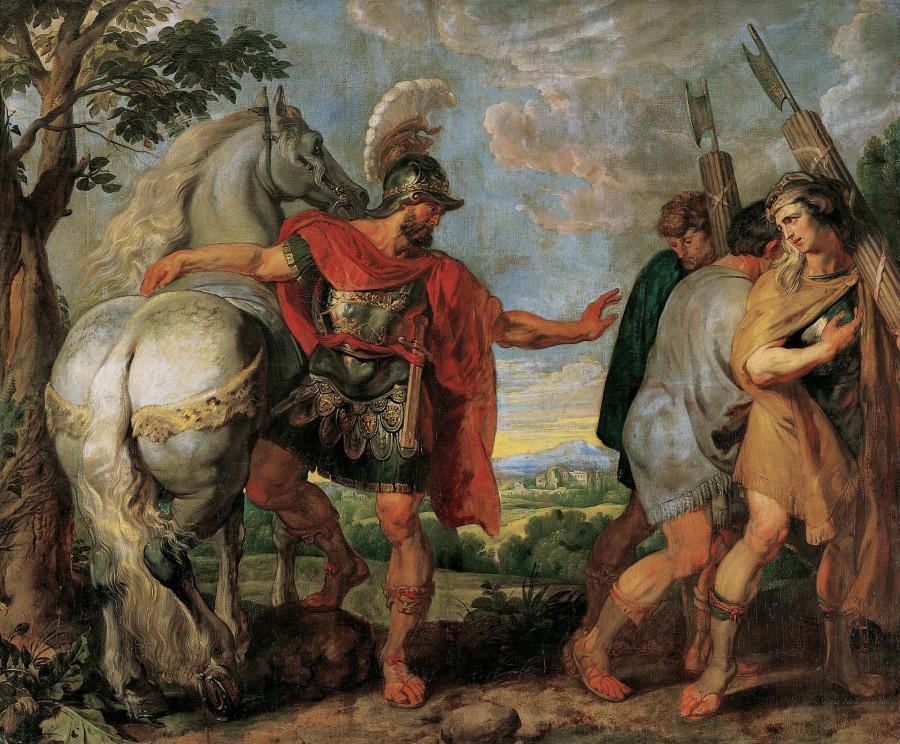 История Деция Муса 3. Деций Мус отсылает своих ликторов к Титу Манлию (1617) (286х343) (Вена, Музей Лихтенштейн)
