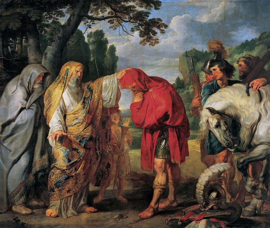 История Деция Муса 4. Консул Деций Мус готовится к смерти (1617) (284х336) (Вена, Музей Лихтенштейн)