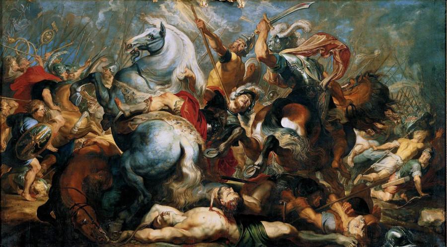 История Деция Муса 5. Смерть Публия Деция Муса (1617) (289х518) (Вена, Музей Лихтенштейн)