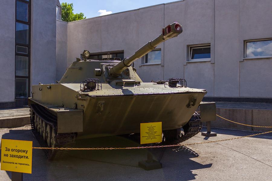 Национальный музей истории Великой Отечественной Войны. Плавучий танк ПТ-76