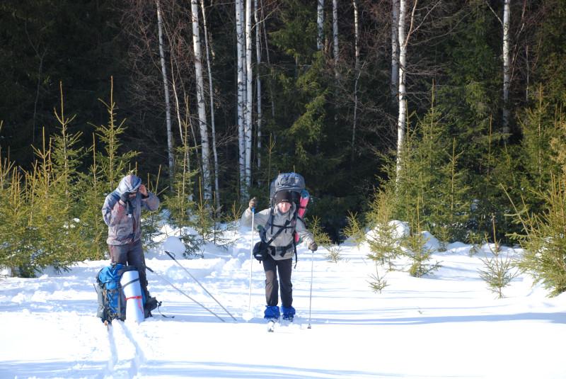 Лыжный поход на Немду, Советский район, Кировская область