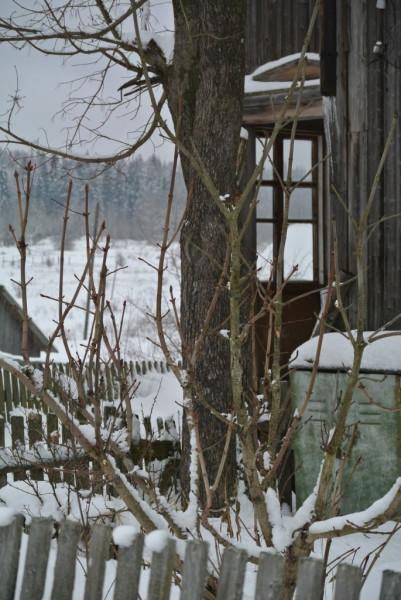 веранда жилого дома без двери