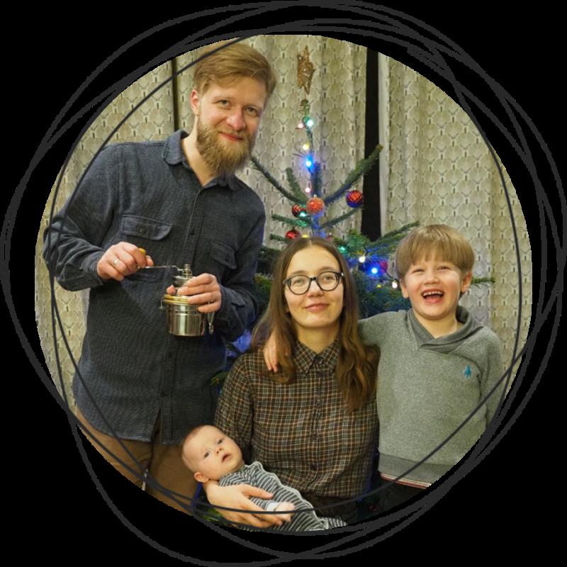 в этом году впервые поставили дома рождественскую елку!