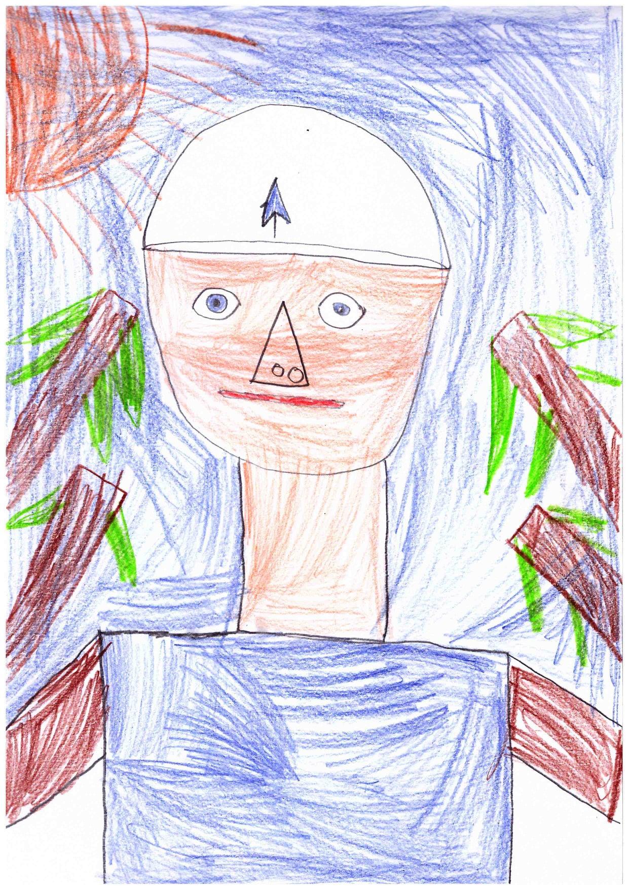 """работы Гедимина: нарисованный за время урока Диппер из """"Гравити фолз""""..."""