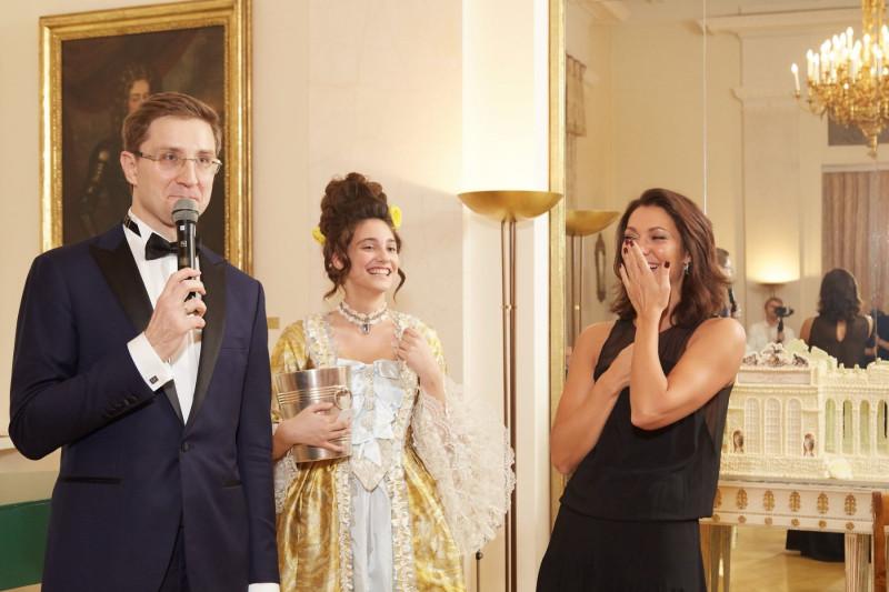 Живой эпизод на Приёме у Посла Австрии в РФ - импровизация ведущего с гостями мероприятия