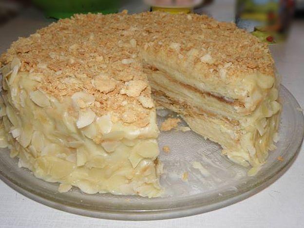 Торт наполеон водкой рецепт фото