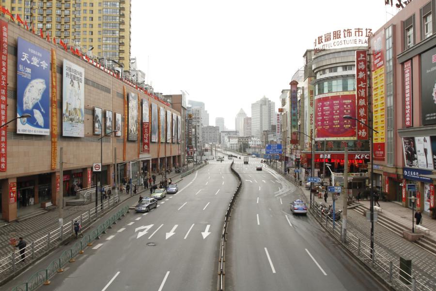 Вещевой рынок в Шанхае
