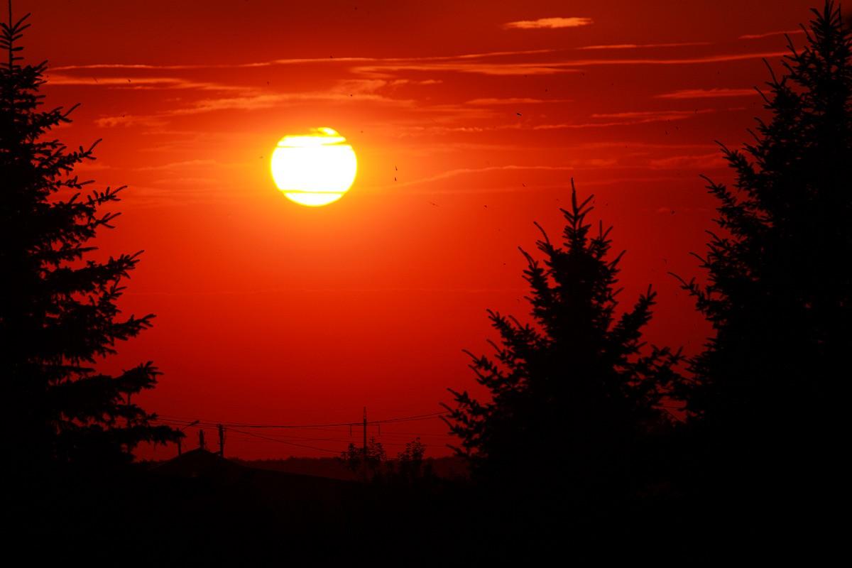 Красный закат фото
