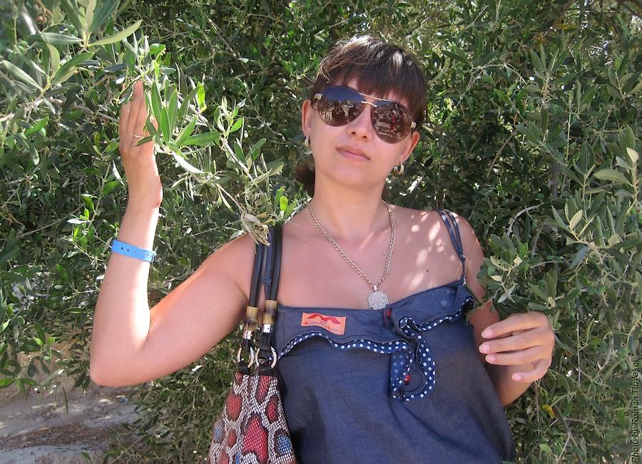 Жена у оливкового дерева