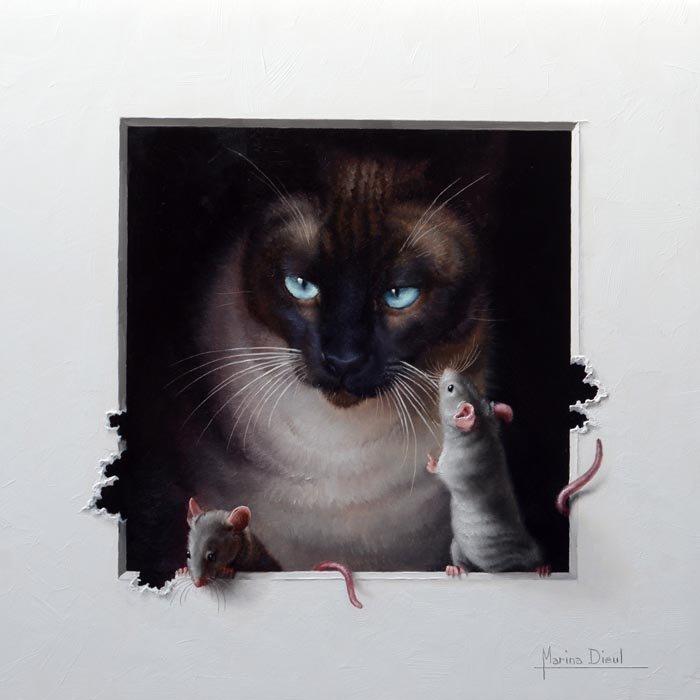 этой картинки для декупажа кот и мыши вдруг