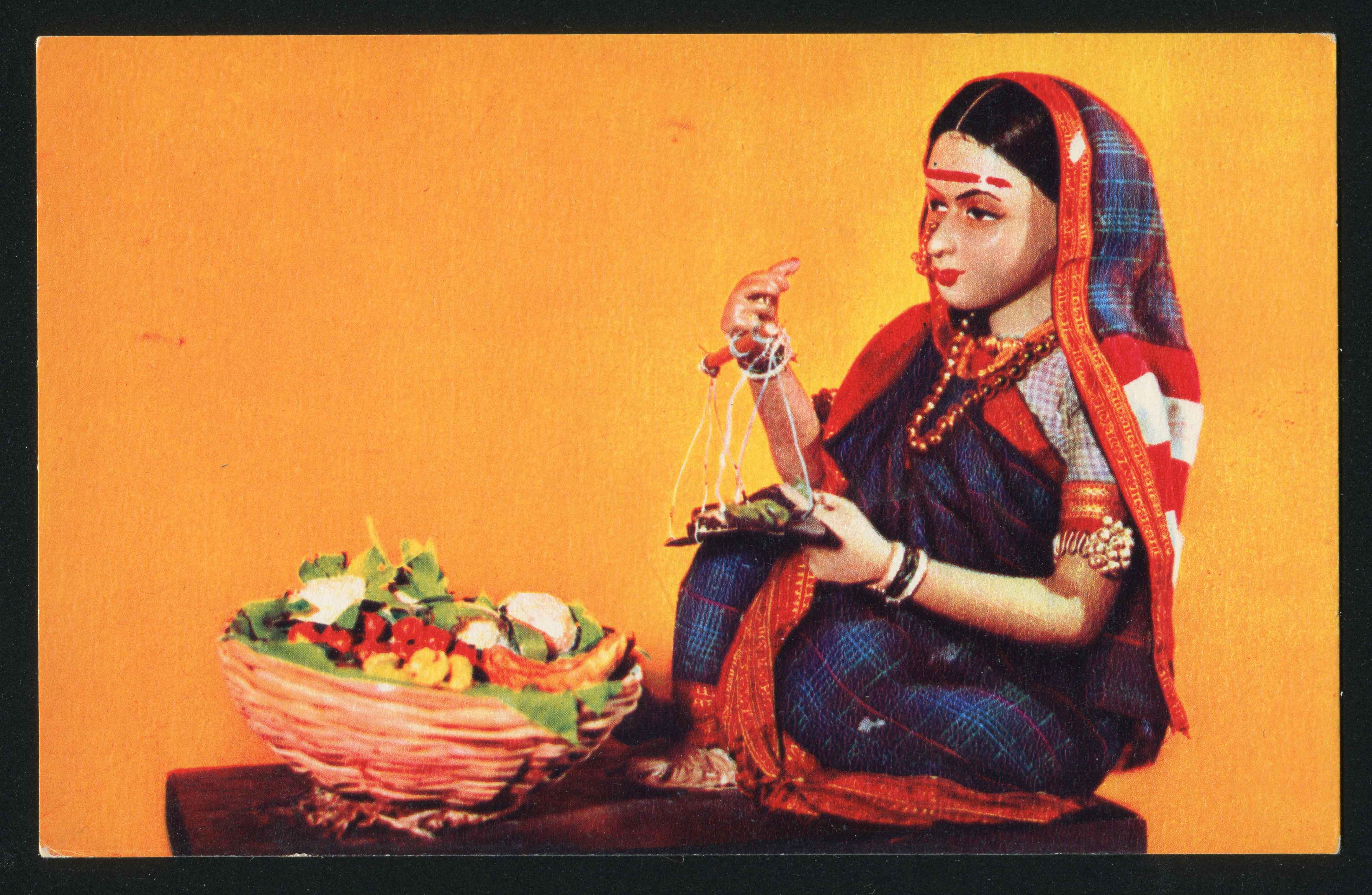 Открытки индийские куклы