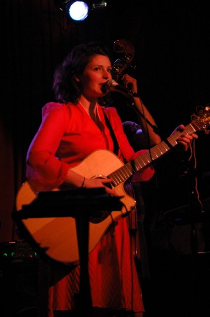 Corina Round at Hotel Cafe - sure, she looks demure..