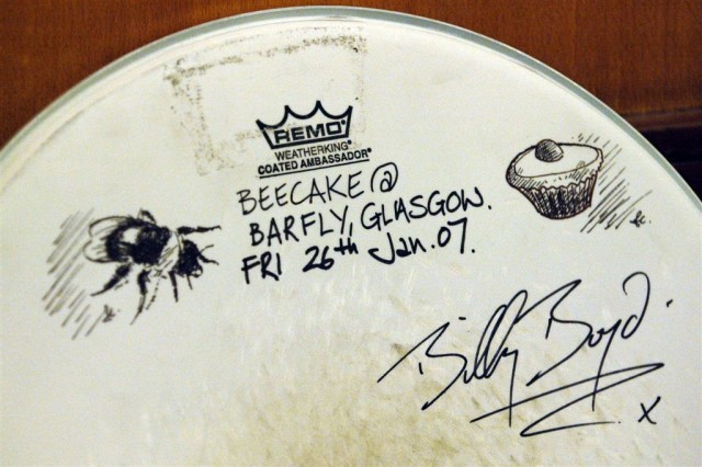 Signed drumskin (and more John art)