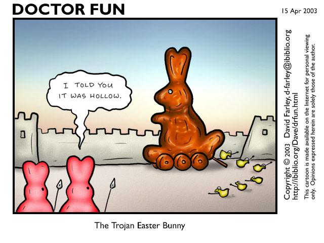 trojan easter bunny