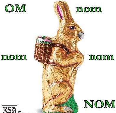 om nom chocolate bunny