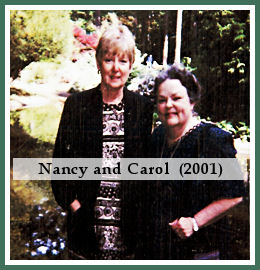 Nancy and Carol in 2001