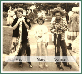 Pat, Mary and Norman Blevins