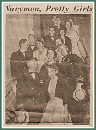 Shirley at the 1956 Navy League Ball