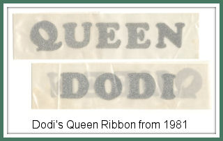 Dodi's ribbon from 1981