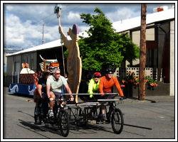 2010 Float Maneuverability - bicycle-powered float