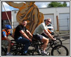 2010 Float Maneuverability - bicycle-powered float