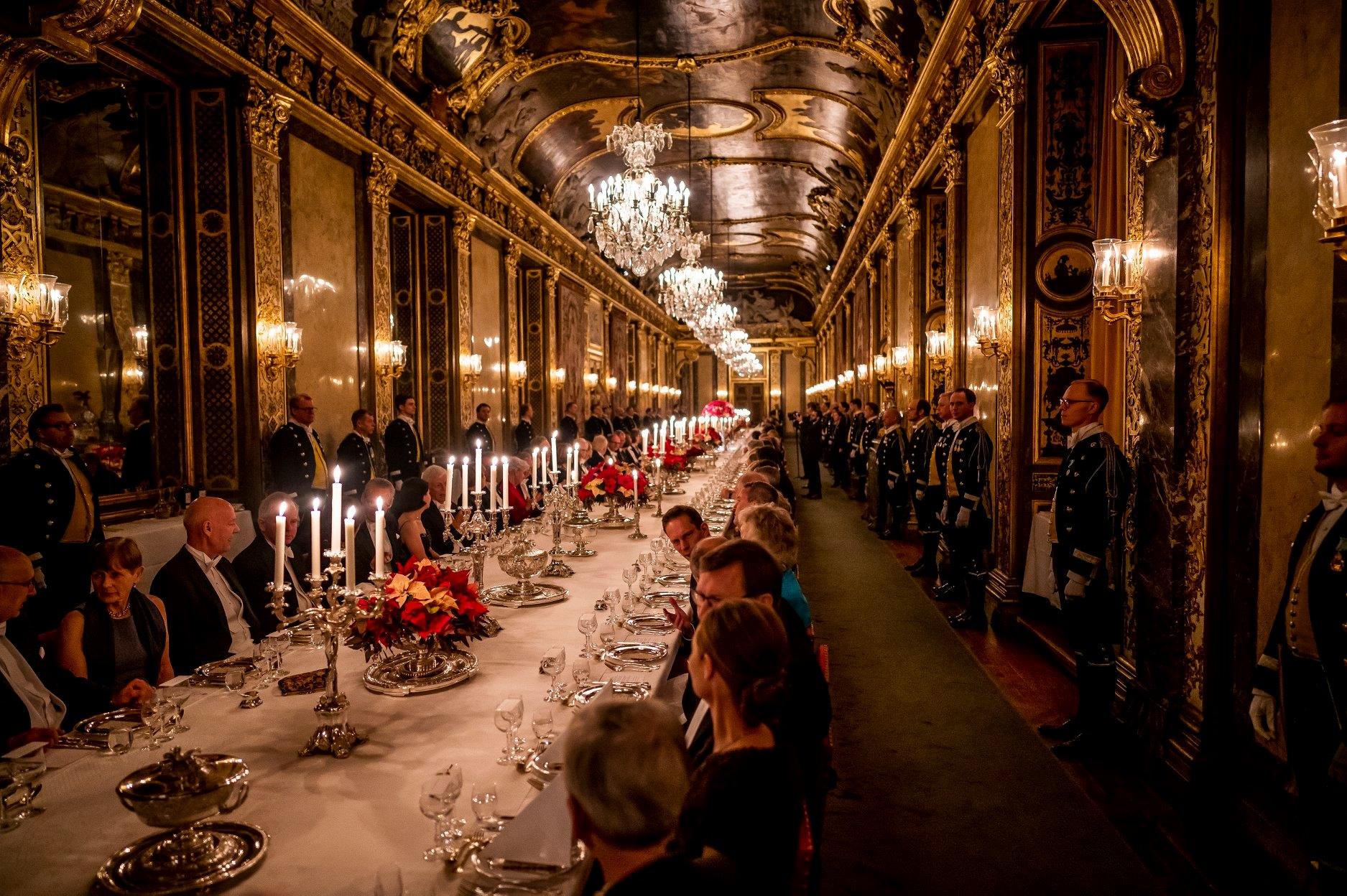 2019 г, королевский обед для нобелевских лауреатов
