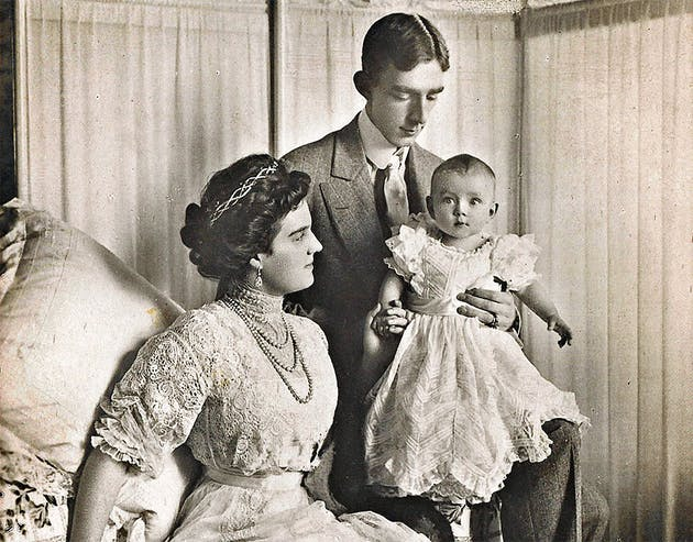 Великая княжна Мария Павловна, шведский принц Вильгельм, принц Леннарт, 1909 г.