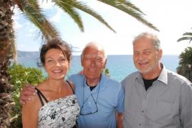 Супруги Gunilla och Jan Bernadotte с одним из старых друзей
