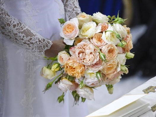 Букет Софии Хелльквист на венчании со шведским принцем Карлом Филиппом, 2015 г