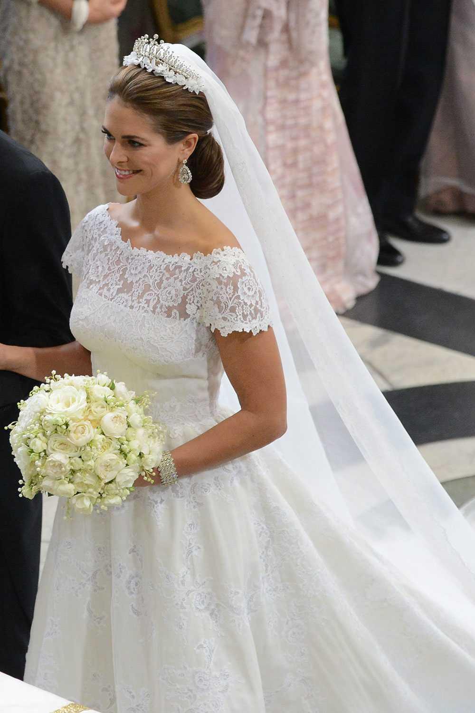 Букет шведской принцессы Мадлен на венчании с Кристофером О'Ниллом, 2013 г