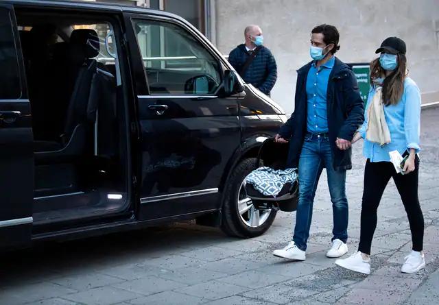 Принцпара покидает больницу около 18 часов того же дня в пятницу ( где принц родился в 11-19)
