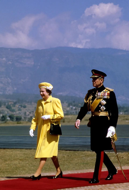 В королевском туре в Непале, 1986 г