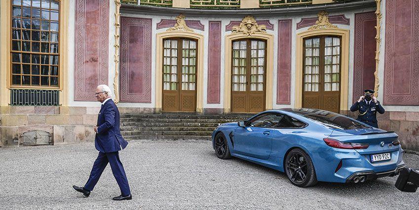 Последнее приобретение короля в его частную коллекцию красивых  машинок — BMW M8 Competition Coupé, с мотором V8, 625 л.с.
