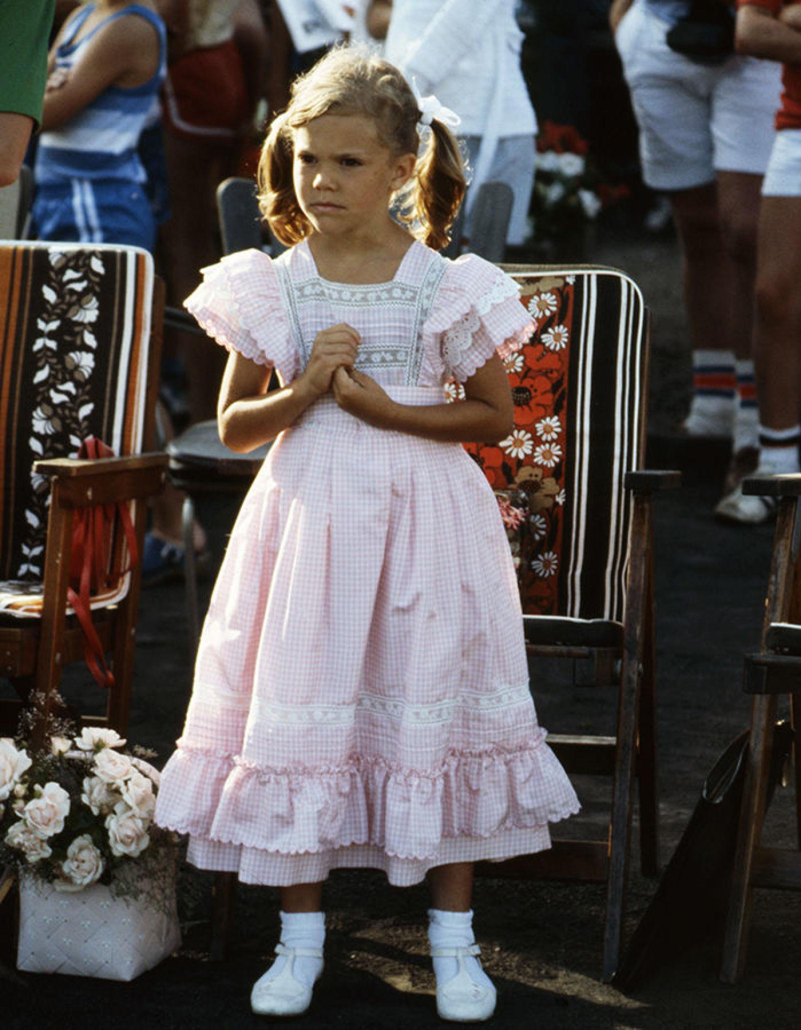 Виктория в Borgholm, 1983, на концерте в честь своего дня рождения