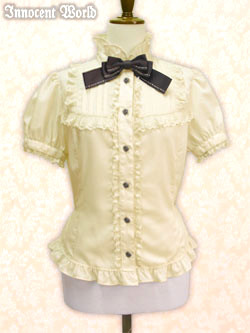 IW Blouse  Original Logo Ribbon milktea