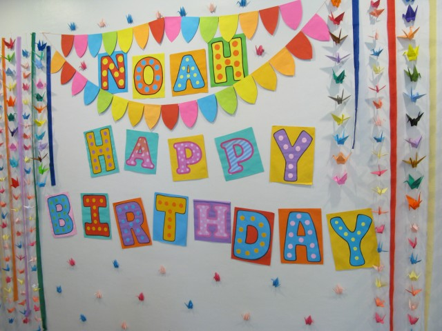 Birthday Decoration In Wall Image Inspiration of Cake and