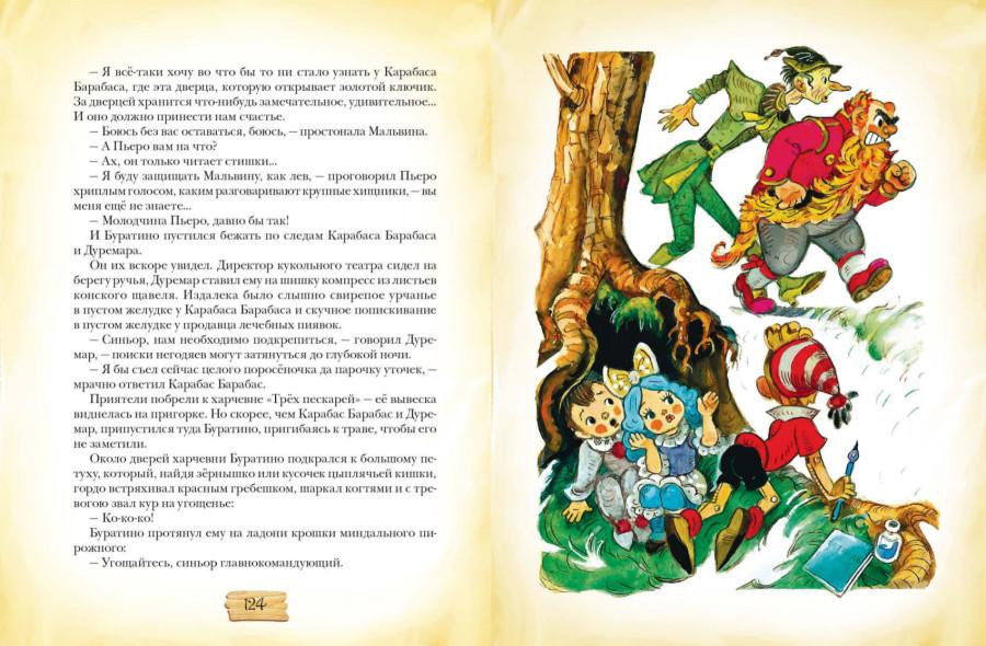 Читать сказку золотой ключик или приключения буратино с картинками