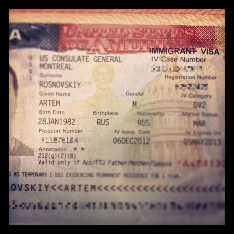 US immigrat Visa