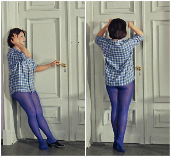 фото девушка в цветных колготках хб